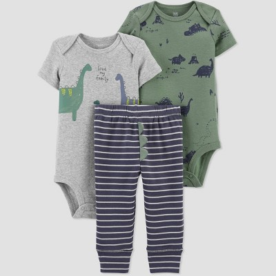 Baby Boys' Dino Top & Bottom Set - Just One You® made by carter's Olive
