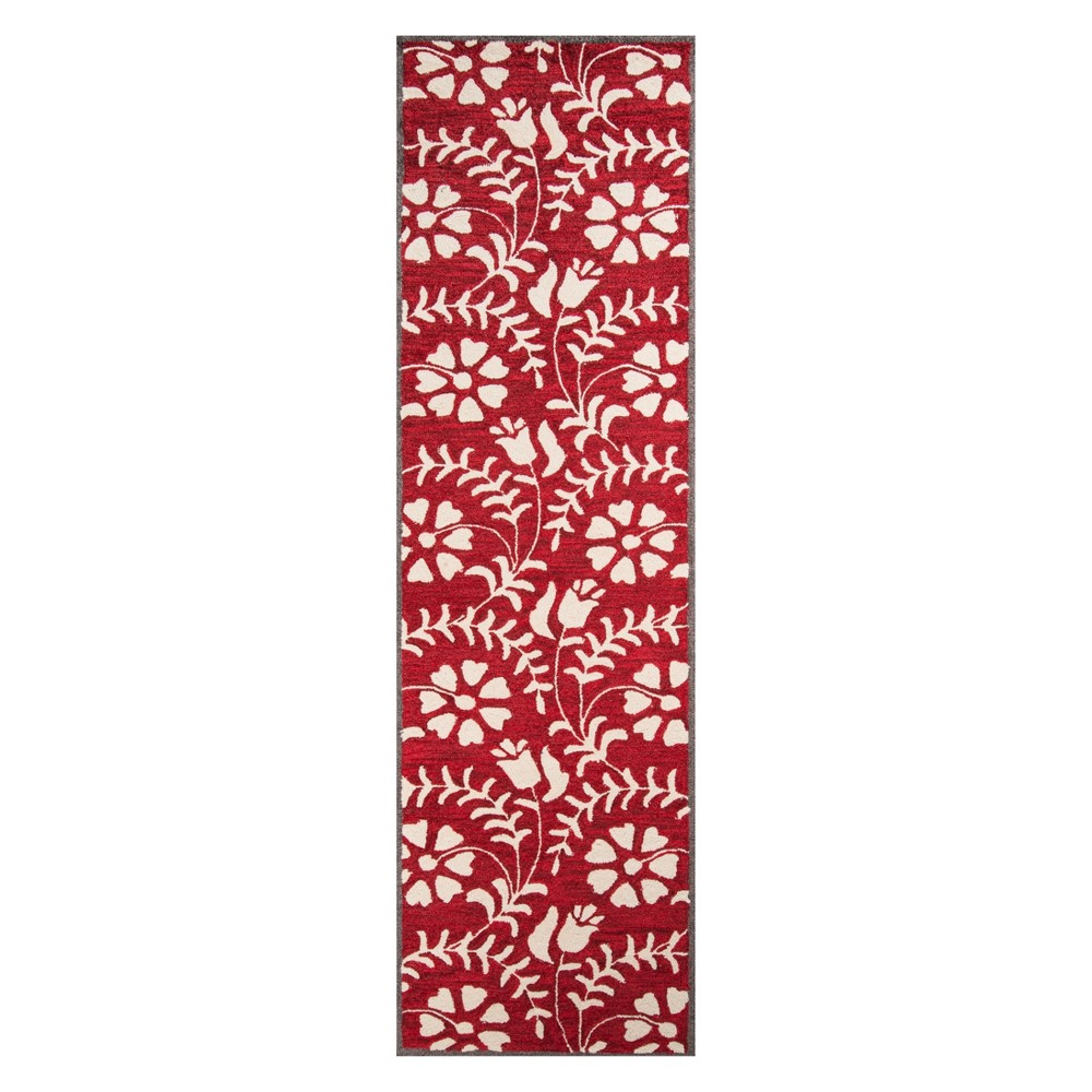 2'3X8' Floral Tufted Runner Red - Momeni