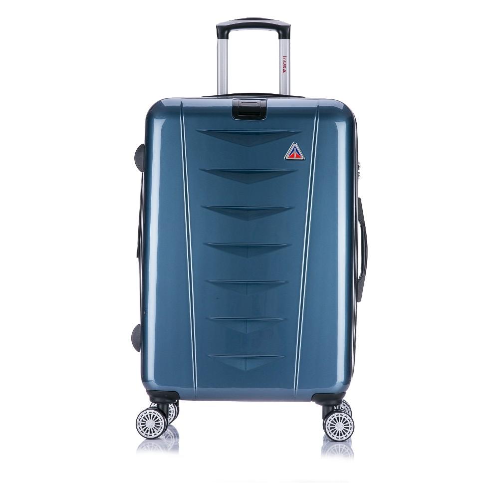 "Image of ""InUSA AirWorld 24"""" Hardside Spinner Suitcase - Navy Blue, Blue Blue"""