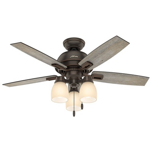 "44"" Donegan Three Light Onyx Bengal Ceiling Fan with Light - Hunter Fan - image 1 of 11"