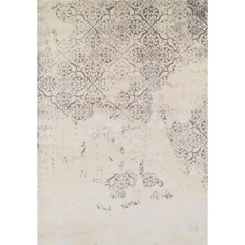 "7'10""X10'8"" Gray Damask Woven Area Rug - Addison Rugs - image 1 of 4"