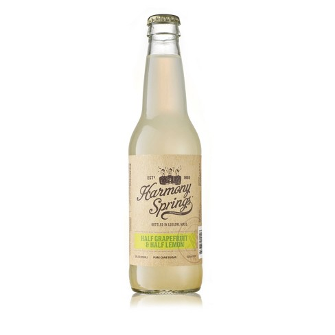 Harmony Springs Half Grapefruit & Half Lemon Soda - 12 fl oz Bottle - image 1 of 1