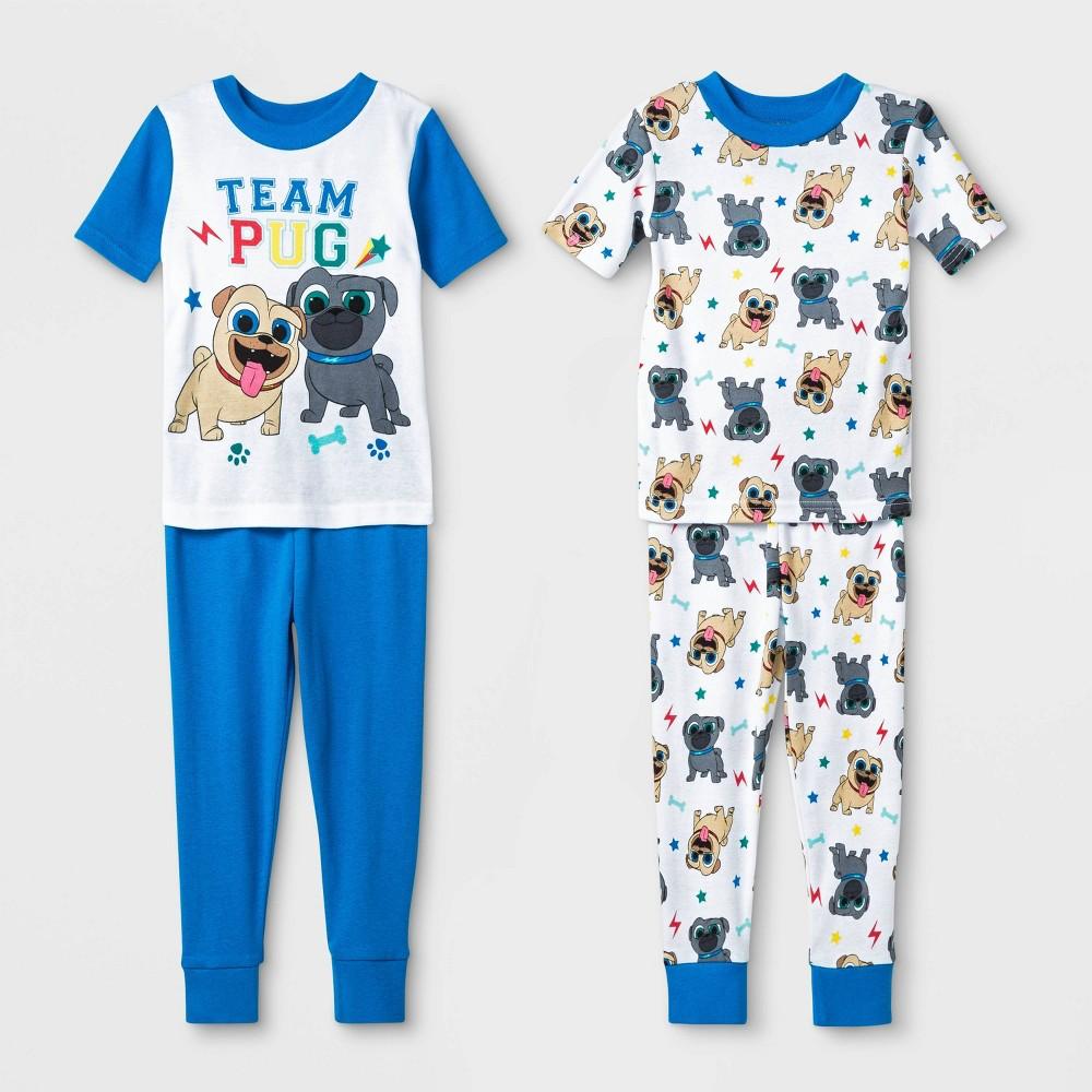Image of Baby Boys' 4pc Puppy Dog Pals 100% Cotton Pajama Set - White 18M, Boy's