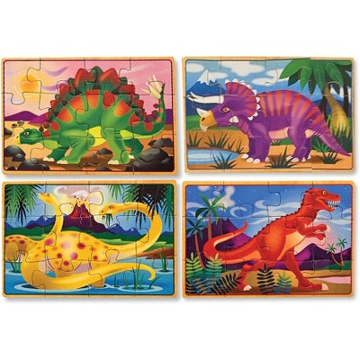 Melissa & Doug® Dinosaurs 4-in-1 Wooden Jigsaw Puzzles in a Storage Box (48pc)