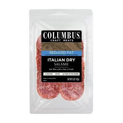 Columbus Reduced Fat Italian Dry Salame - 5oz