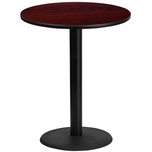 Furniture 30 Round Mahogany Laminate