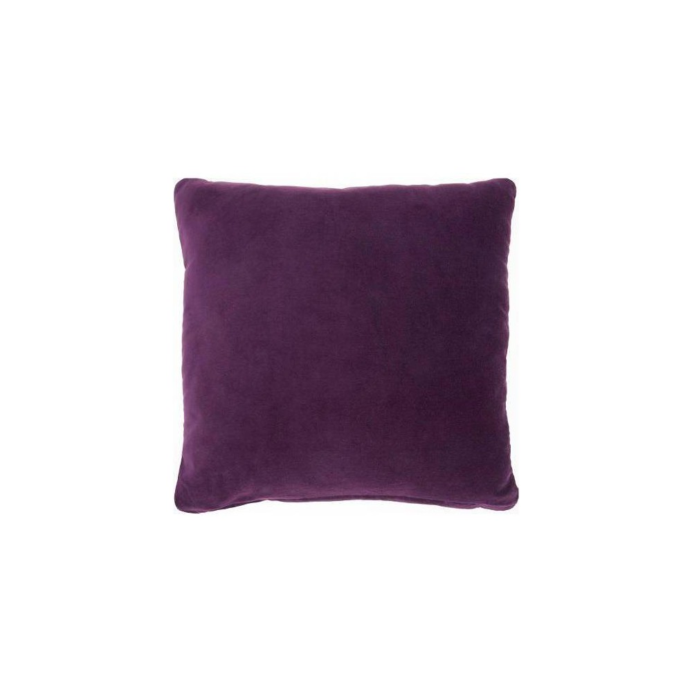Image of Life Styles Solid Velvet Square Throw Pillow Purple - Nourison