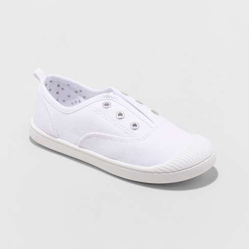 Girls' Mandy Laceless Canvas Sneakers - Cat & Jack™ - image 1 of 3