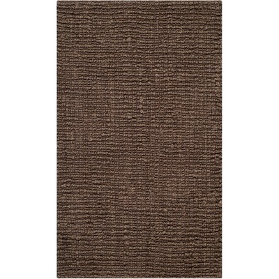 2'X3' Solid Woven Accent Rug Brown - Safavieh