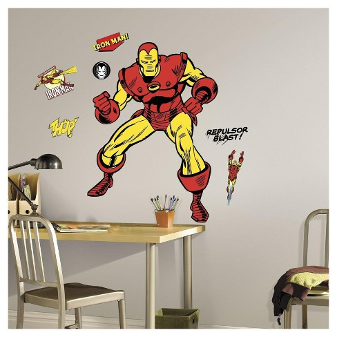 Iron Man Comic Wall Decals - image 1 of 1