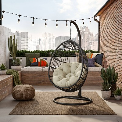 Swing Chair Hammock with Cushion & Stand - TK Classics