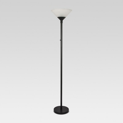 Torch Floor Lamp Black Lamp Only - Threshold™