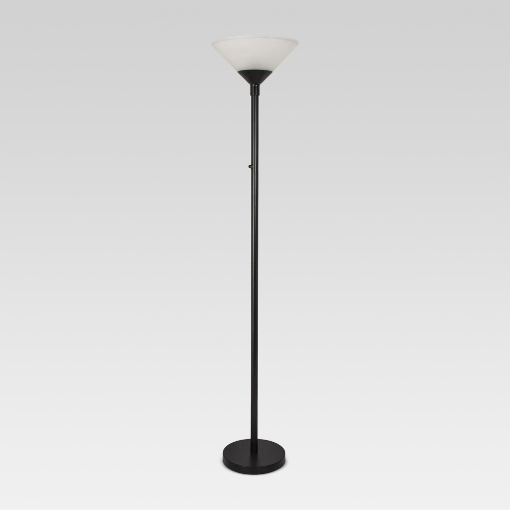 Torch Floor Lamp Includes Energy Efficient Light Bulb Threshold 8482
