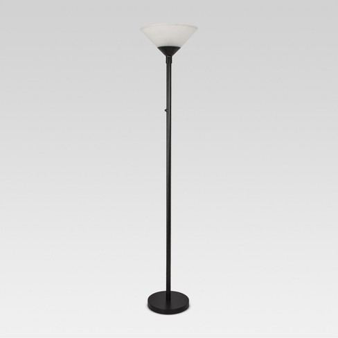 Torch Floor Lamp Slate Black Includes