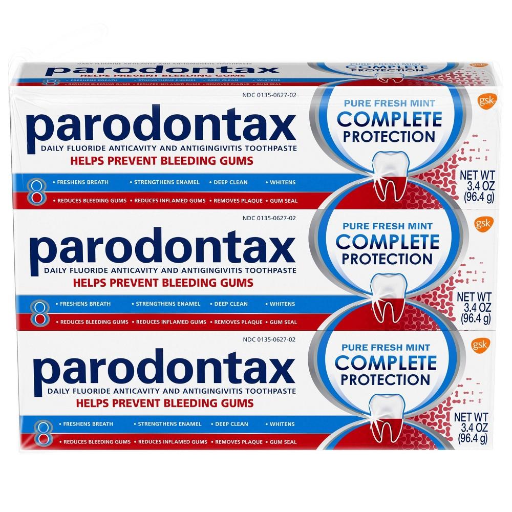 Image of Parodontax Fluoride Anti-Cavity & Anti-gingivitis Toothpaste - 3.4oz/3pk