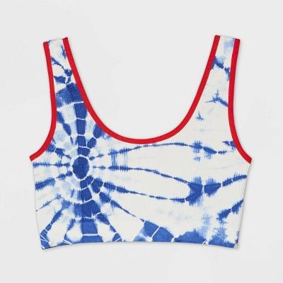 Women's Americana Bralette - Colsie™ Blue/Red