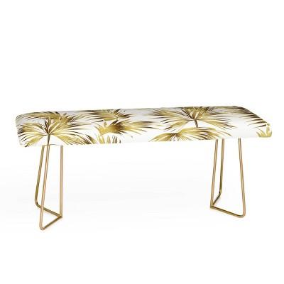 Marta Barragan Camarasa Golden Palms Bench - Deny Designs