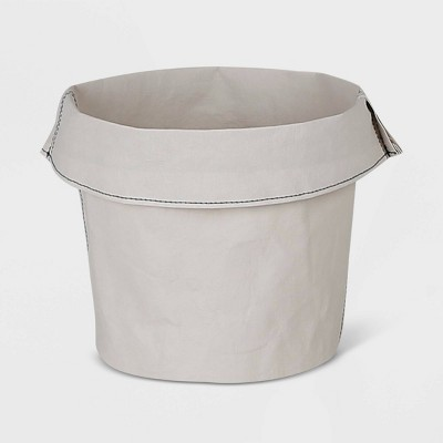 Round Washable Paper Basket Light Gray/White - Project 62™