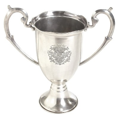 Nickel Etched Trophy with Handles - Go Home