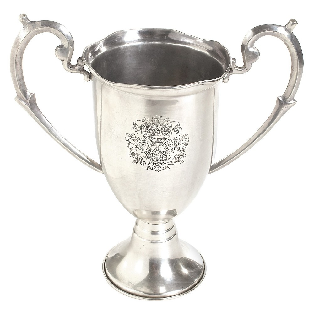 Image of Nickel Etched Trophy with Handles - Go Home