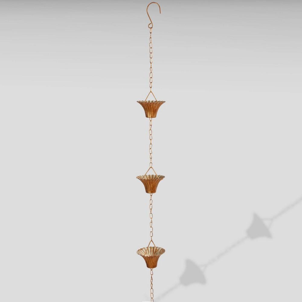 100 Copper (Brown) Plated Rain Chain - Esschert Design