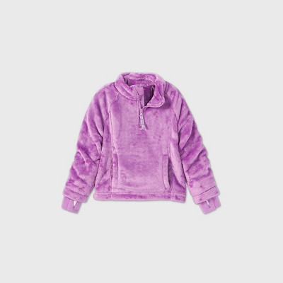 Toddler Girls' Adaptive Fleece Jacket - Cat & Jack™ Purple
