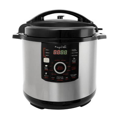 MegaChef 12qt Digital Pressure Cooker - Silver