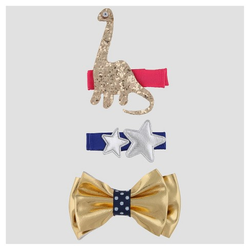 Girls' 3pk Clips and Barrettes Cat & Jack™ - image 1 of 2