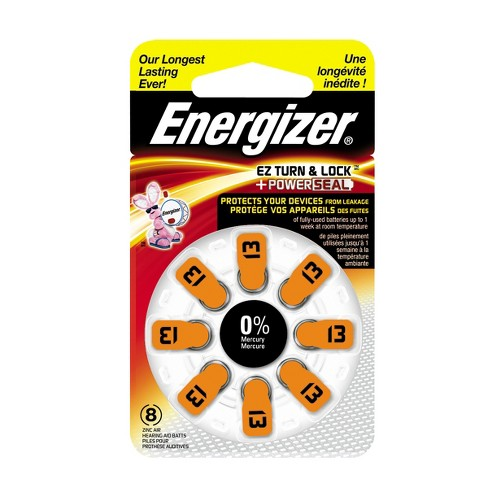 Energizer Hearing Aid Size 13 Batteries, 8 ct (AZ13DP-8) - image 1 of 1