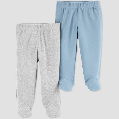 Baby Boys' 2pk Pull-On Pants - Just One You® made by carter's Blue Newborn