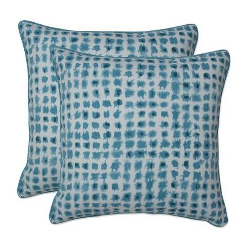 """16.5"""" x 16.5"""" Outdoor/Indoor Throw Pillow Alauda Teal Blue - Pillow Perfect - image 1 of 1"""