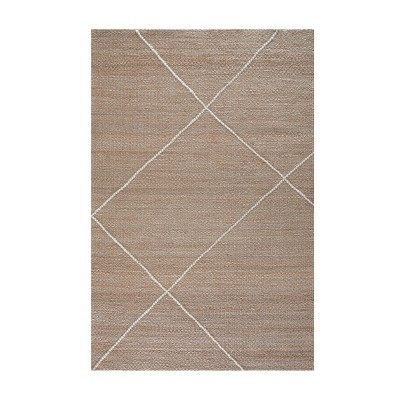 Parallel Lines Wool Stripe Rug Natural/Ivory - Anji Mountain