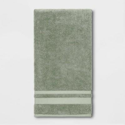 Performance Bath Sheet Dark Sage Green - Threshold™
