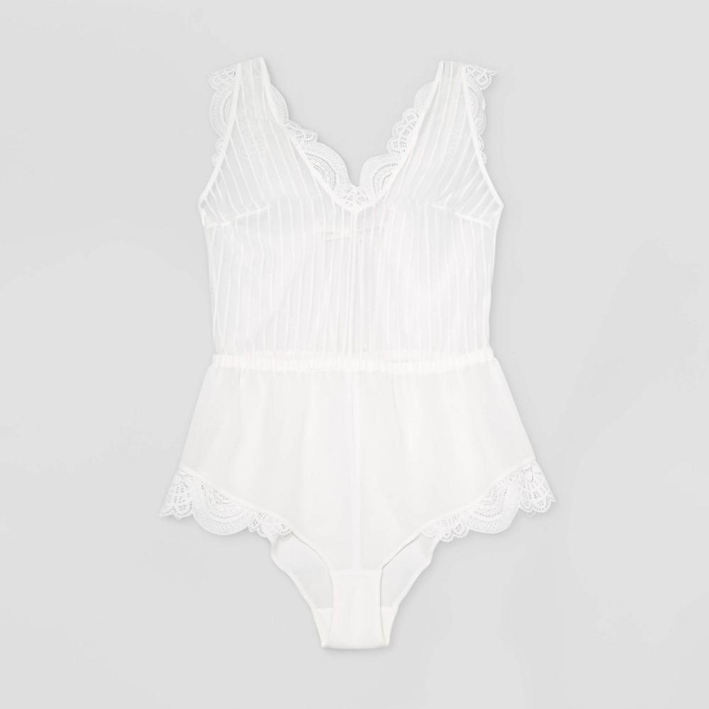Women's Striped Chiffon Romper - Auden Gesso White XS