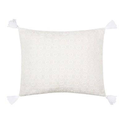Fiori Lace Overlay Decorative Pillow - Levtex Home