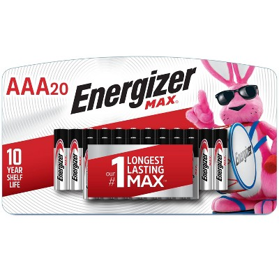 Energizer 20pk MAX Alkaline AAA Batteries