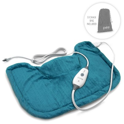 "Pure Enrichment PureRelief Neck and Shoulder Heating Pad  - 14"" x 22"" - Turquoise Blue"