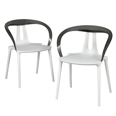 Set of 2 Bryce Dining Chairs White/Smoke - Buylateral - image 1 of 3