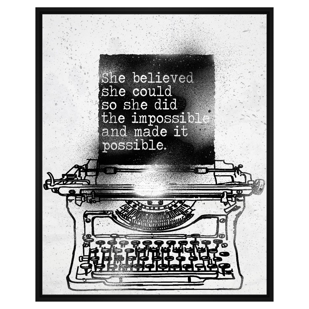 She Believed She Could 31.75X41.75 Wall Art, Multi-Colored