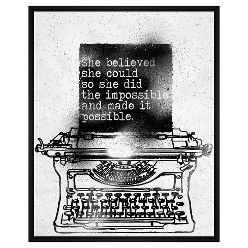 She Believed She Could 31.75X41.75 Wall Art - image 1 of 1