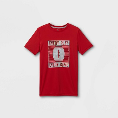 Boys' Short Sleeve Football Graphic T-Shirt - All in Motion™ Red