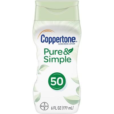 Coppertone Pure & Simple Sunscreen Lotion - SPF 50 - 6 fl oz