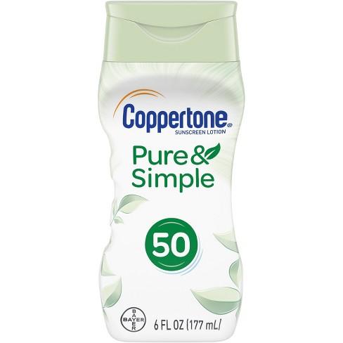 Coppertone Pure & Simple Sunscreen Lotion - SPF 50 - 6 fl oz - image 1 of 4