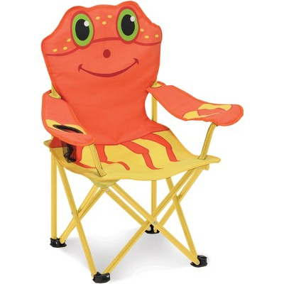 Melissa & Doug Sunny Patch Clicker Crab Folding Beach Chair with Carrying Case