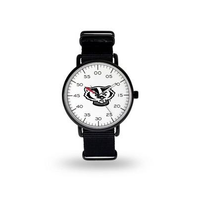 NCAA Wisconsin Badgers Men's Analog Watch - Black
