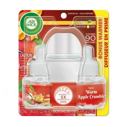 Air Wick Warm Apple Crumble Scented Oil Starter Kit - 1+2ct - image 1 of 4