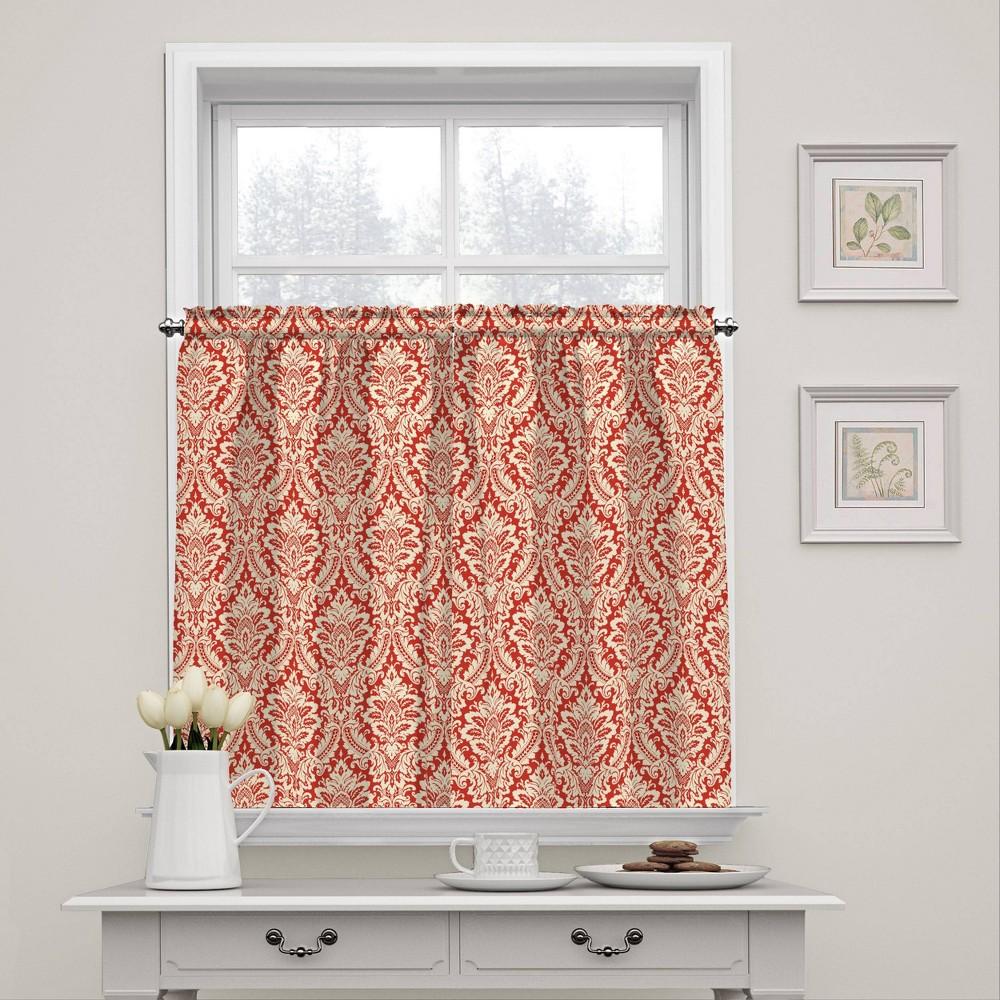 "Image of ""36""""x52"""" Donnington Window Tier Pair Orange - Waverly"""