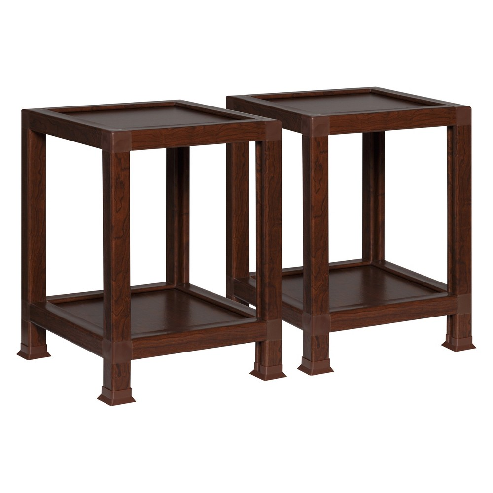 OneSpace Eco 100% Recycled Paper End Tables Teak (Brown)