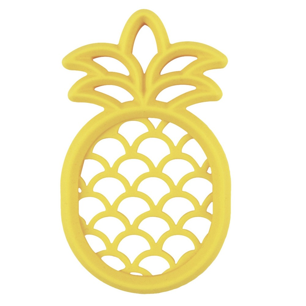 Itzy Ritzy Silicone Pineapple Teether - Yellow