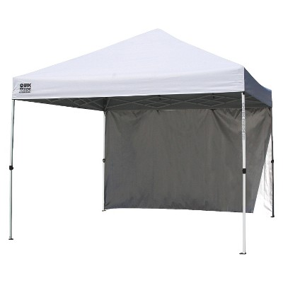 Quik Shade Commercial C100 10X10 Instant Canopy w/ Wall Panel - White